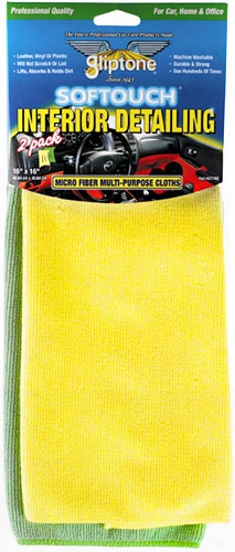 Gliptone Softouch Interior Detailing Microfiber Towels 2-pack