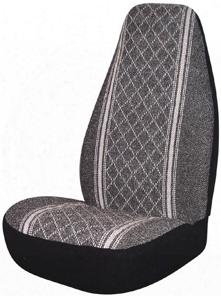 Gray Diamond-back Universal Bucket Seat Cover Pair