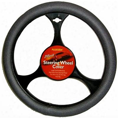 Gray Mesh Grip Steering Wheel Cover