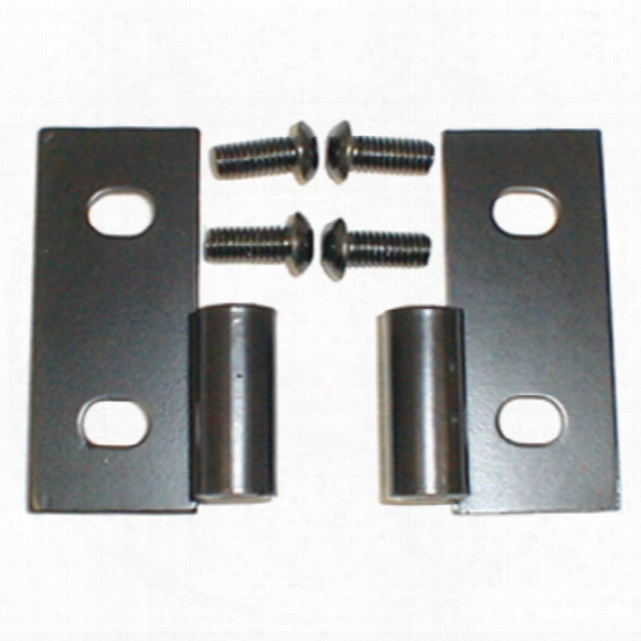Jeep Wrangler &aml; Cj Black Lower Door Hinge Brackets-pair 1976-2006