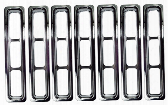 Jeep Wrangler & Unlimited Chrome Trim Grille Inserts 1997-2006