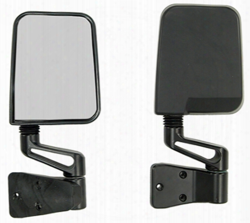Jeep Wrangler Black Side Mirrors 1987-2002