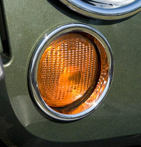 Jeep Wrangler Jk Chrome Turn Signal Light Covers-pair 2007-2017