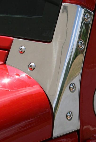 Jeep Wrangler Jk Stainless Steel Windshield Bracket - Pair 2007-2017