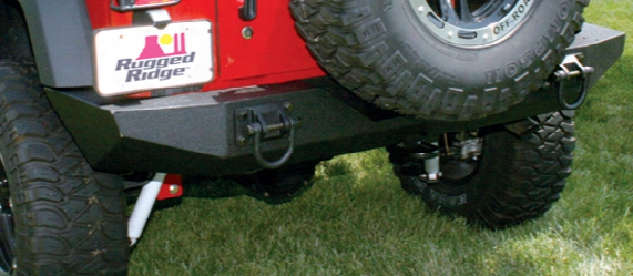 Jeep Wrangler Xhd Textured Black Rear Bumper 2007-2017