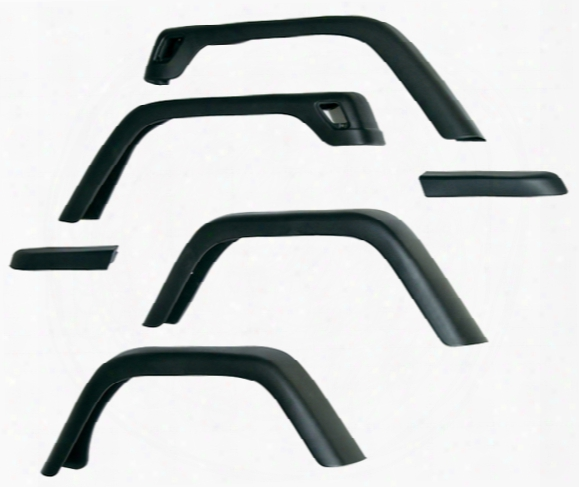 "Jeep Wrangler Yj 6 Piece 7"" Wide Fender Flare Kit 1987-1995"