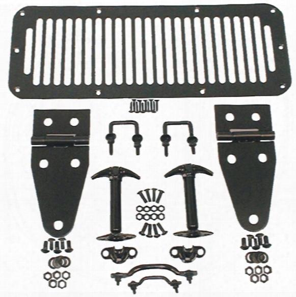 Jeep Wrangler/unlimited & Cj Black Complete Hood Kit 1978-1995