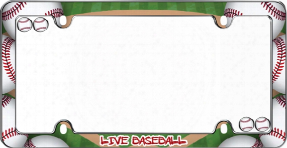 Live Baseball License Plate Frame Kit