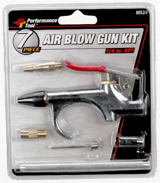 Performance Tool 7 Piece Blowgun Kit