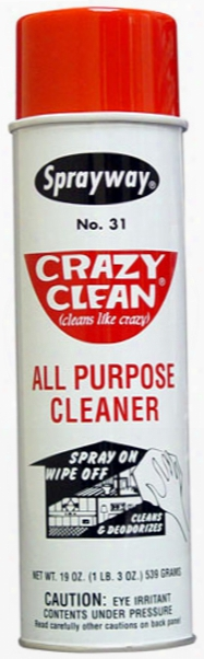 Sprayway Crazy Clean All Purpose Aerosol Cleaner 19 Oz.