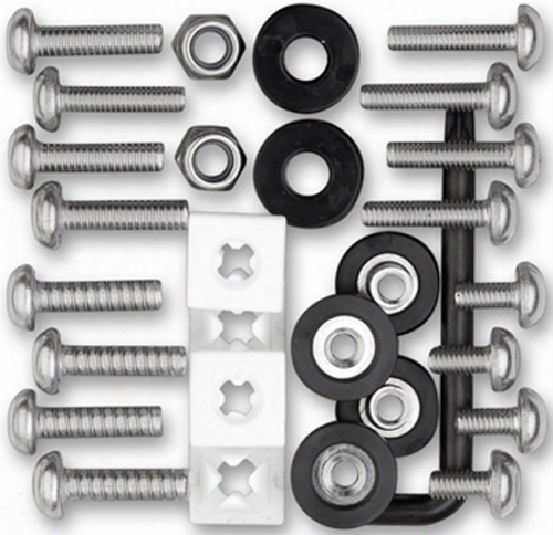 Stainless Steel Locking License Plate Frame Fastener Kit