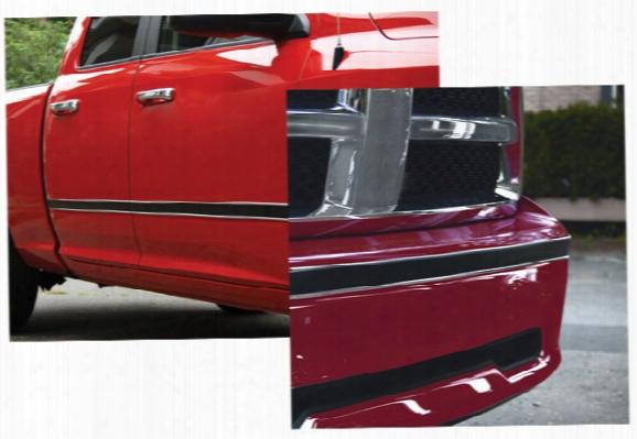 "Style Guard Chrome & Black Side Molding 2"" X 16ft."