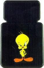 Tweety Bird With Attitude Rubber Car Floor Mats Pair