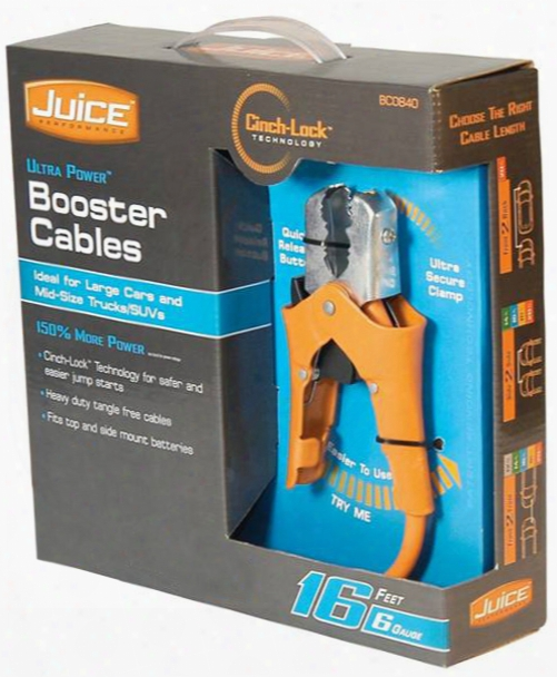 Ultra Power Booster Cable With Cinch-lock Technology
