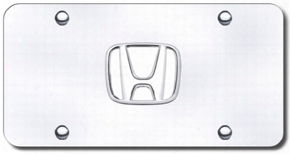 3d Chrome Honda Logo Stainless Steel License Plate