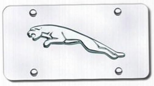 3d Chrome Jaguar Logo Stainless Steel License Plate