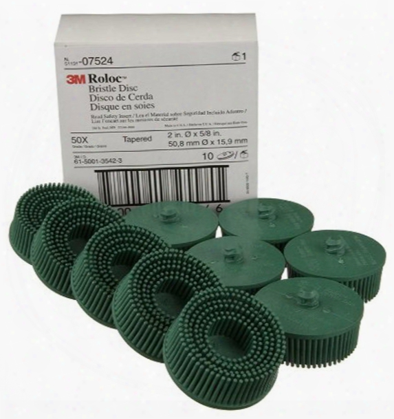 "3m 2"" Green Coarse Bristle Discs 10 Pack"