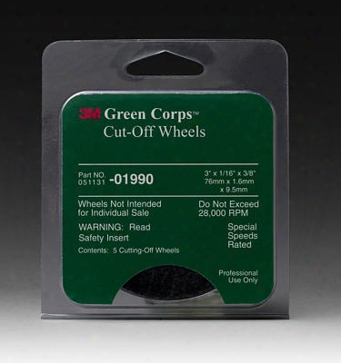 3m Green Corps Cut-off Wheel 5-pack