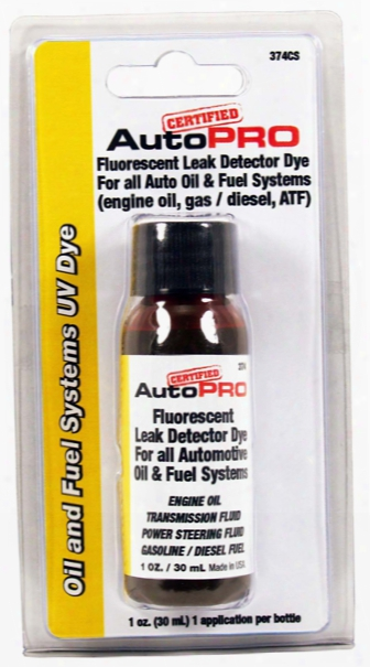 A/c Pro Oil And Fuel Systems Uv Dye 1 Oz.