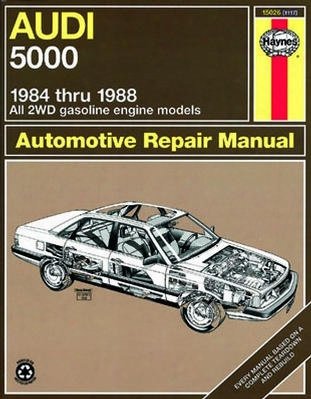 Audi 5000 All 2wd Gas Engine Models Haynes Repair Manual 1984 - 1988