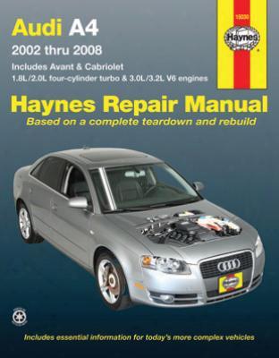 Audi A4 Sedan Avant & Cabriolet Haynes Repair Manual 2002-2008