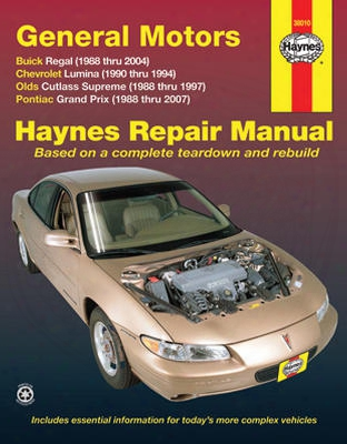 Buick Regal Chevrolet Lumina Olds Cutlass Supreme & Pontiac Grand Prix Haynes Repair Manual 1988-2007