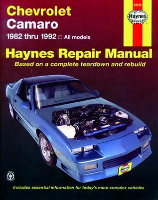 Chevrolet Camaro Haynes Repair Manual 1982-1992