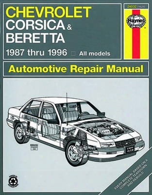 Chevroelt Corsica And Beretta Haynes Repair Manual 1987 - 1996