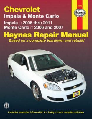 Chevrolet Impala & Monte Carlo Haynes Repair Manual 2006-2011
