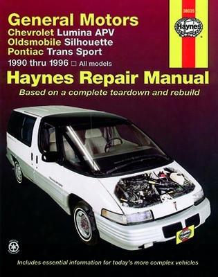 Chevrolet Lumina Apv Olds Silhouette & Pontiac Trans Sport Haynes Repair Manual 1990-1996