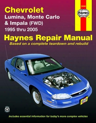 Chevrolet Lumina Monte Carlo And Impala Haynes Repair Manual 1995-2005