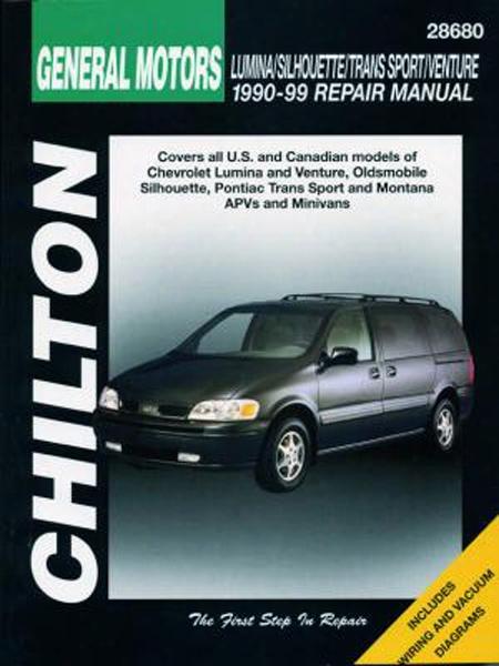Chevy Lumina Apv/venture Pontiac Montana/trans Sport Oldsmobile Silhouette 1990-99 Chilton Manual