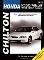 Chilton Repair Manual For Honda Accord/prelude 1996-2000