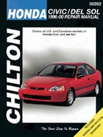 Chilton Repair Manual For Honda Civic & Del Sol 1996-2000