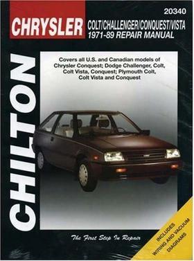 Chrysler Colt Conquest Challenger & Vista Chilton Manual 1971-1989
