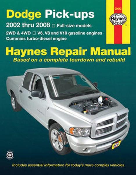 Dodge Full-size Pick-ups Haynes Repair Manual 2002-2008