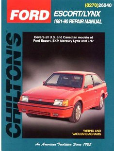 Ford Escort/mercury Lynx 1981-90 Chilton Manual