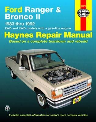 Ford Ranger & Bronco Ii Haynes Repair Manual 1983-1992