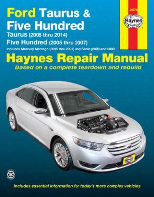 Ford Taurus 500 & Mercury Montego Sable Haynes Repair Manual 2005-2014