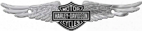 Harley-davidson Bar & Shield W/ Wings - Chrome Tag Accessory