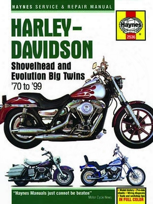 Harley-davidson Shovelhead & Evolution Big Twins Haynes Repair Manual 1970-1999