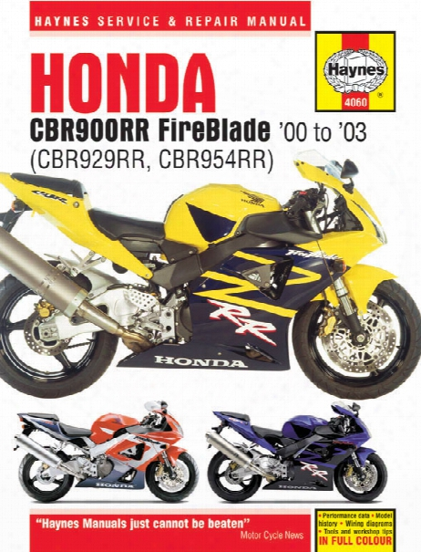 Haynes Honda Cbr900rr Fireblade Superbike 2000-2003
