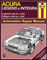 Haynes Repair Manual For Acura Integra & Legend 1986-1990