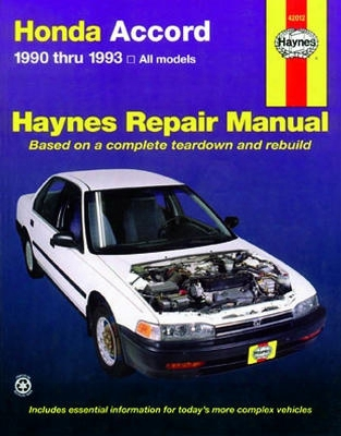 Haynes Repair Manual For Honda Accord 1990-1993