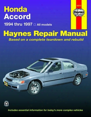 Haynes Repair Manual For Honda Accord 1994-1997