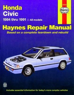 Haynes Repair Manual For Honda Civic 1984-1991