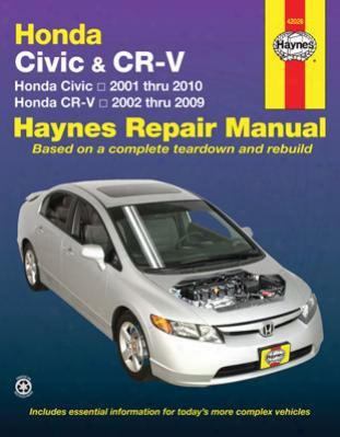 Haynes Repair Manual For Honda Civic & Cr-v 2001-2010