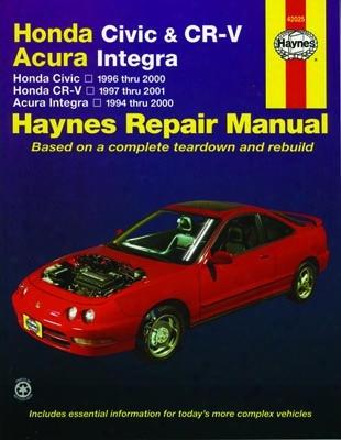 Haynes Repair Manual For Honda Civic & Cr-v / Acura Integra 1994-2001