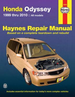Haynes Repair Manual For Honda Odyssey 1999-2010