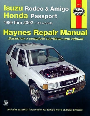 Haynes Repair Manual For Isuzu Rodeo & Amigo Honda Passport 1991-2002